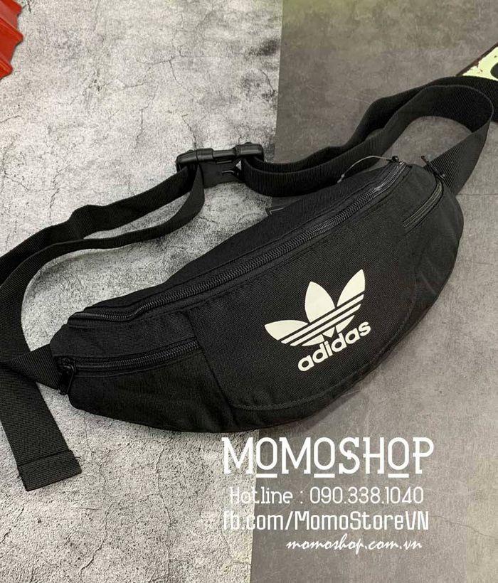 Túi đeo chéo kết hợp đeo hông da thật Adidas thể thao BN707