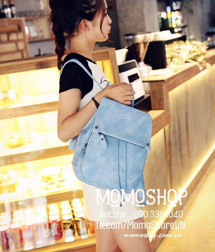 Balo nữ thời trang Hàn Quốc bl224xanhduong