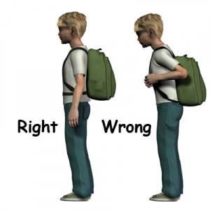 đeo balo đẹp đúng cách không bị đau lưng
