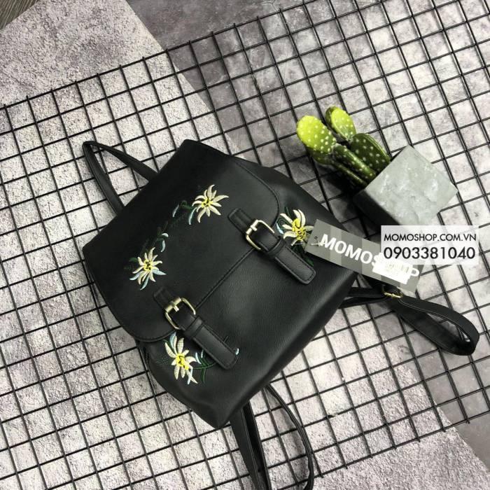 Balo Mini họa tiết hoa siêu xinh (MINI80_DEN)