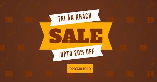Tri Ân Khách Hàng – Sale Off 20% tất cả sản phẩm đến hết ngày 28/2/2018