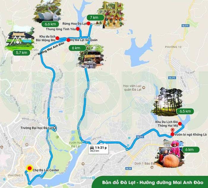 <center> Bảng đồ cùng hướng - Hướng đèo Mai Anh Đào</center>