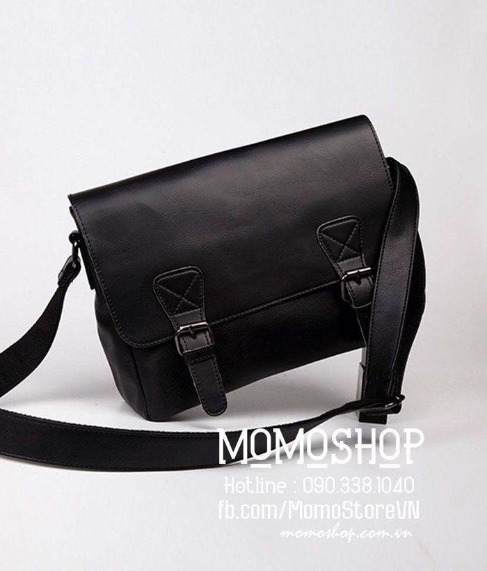 Túi đeo chéo da nam Hàn Quốc bn257 đen