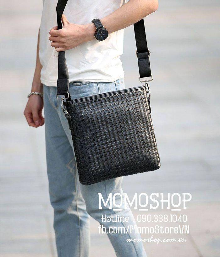 Túi đeo chéo da nam Hàn Quốc bn263-den