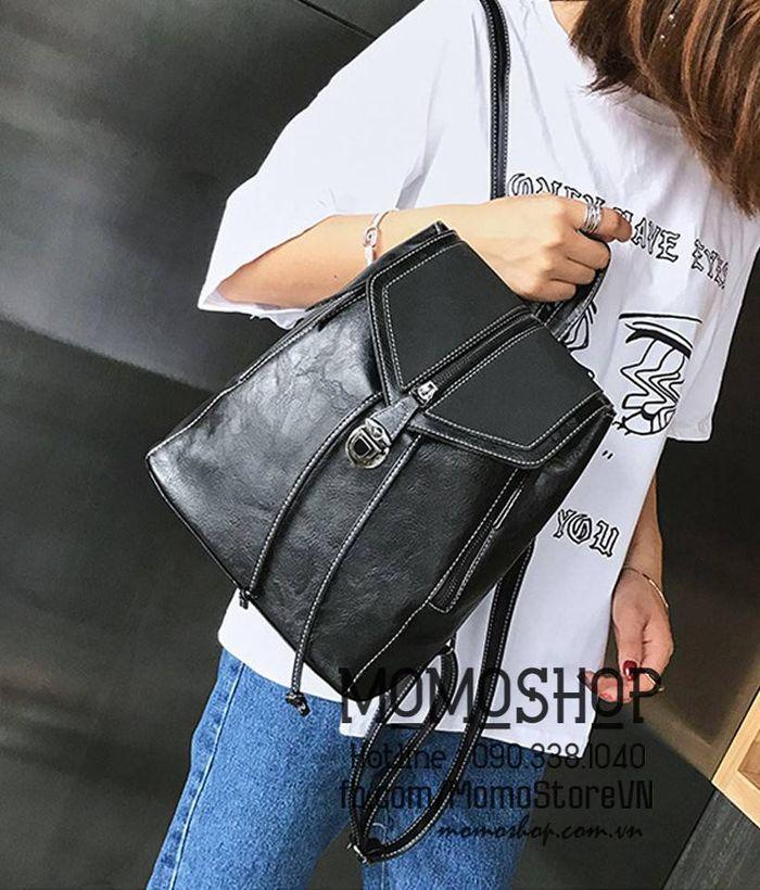 Balo mini túi xách 2in1 thời trang màu đen chất lượng đẹp, giá tốt nhất