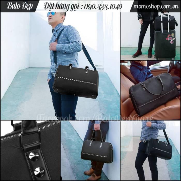 Túi xách du lịch nạm đinh cao cấp phong cách, chất vải dày, giá rẻ tại HCM