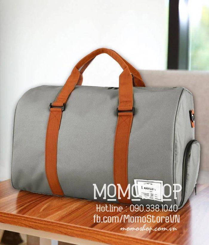 Túi xách du lịch vải nam đẹp màu ghi