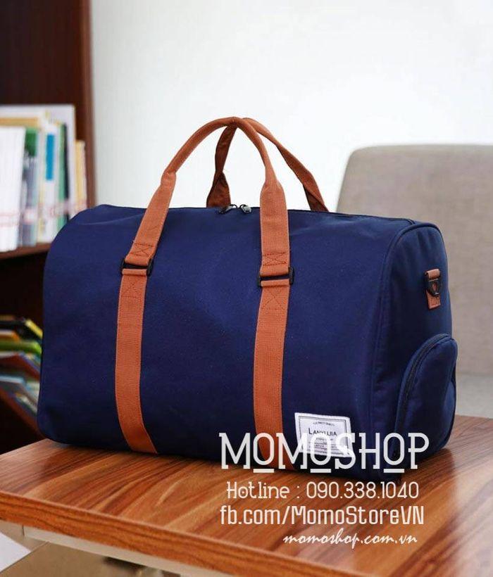 Túi xách du lịch vải nam đẹp màu xanh dương