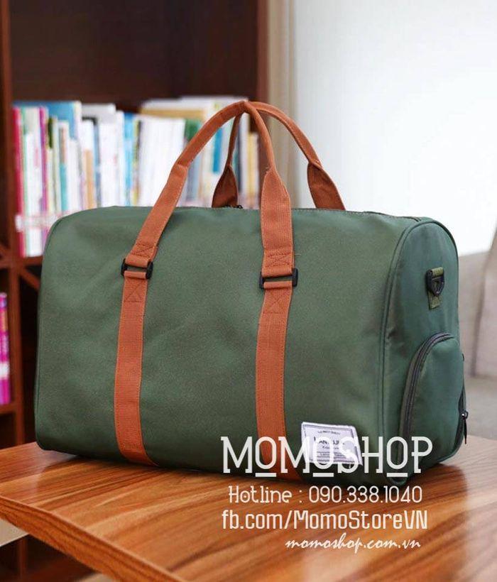 Túi xách du lịch vải nam đẹp màu xanh lá