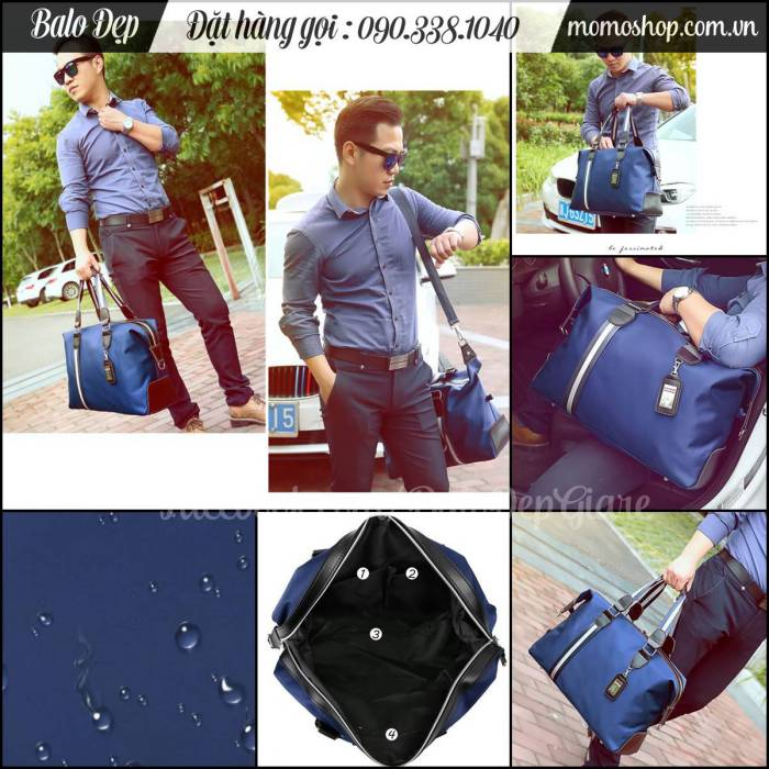 Túi xách du lịch nam Gentleman màu đen giá rẻ nhất TpHCM