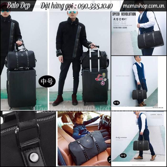 Túi xách du lịch nam đầu lâu phong cách thời trang, chất vải dày siêu bền