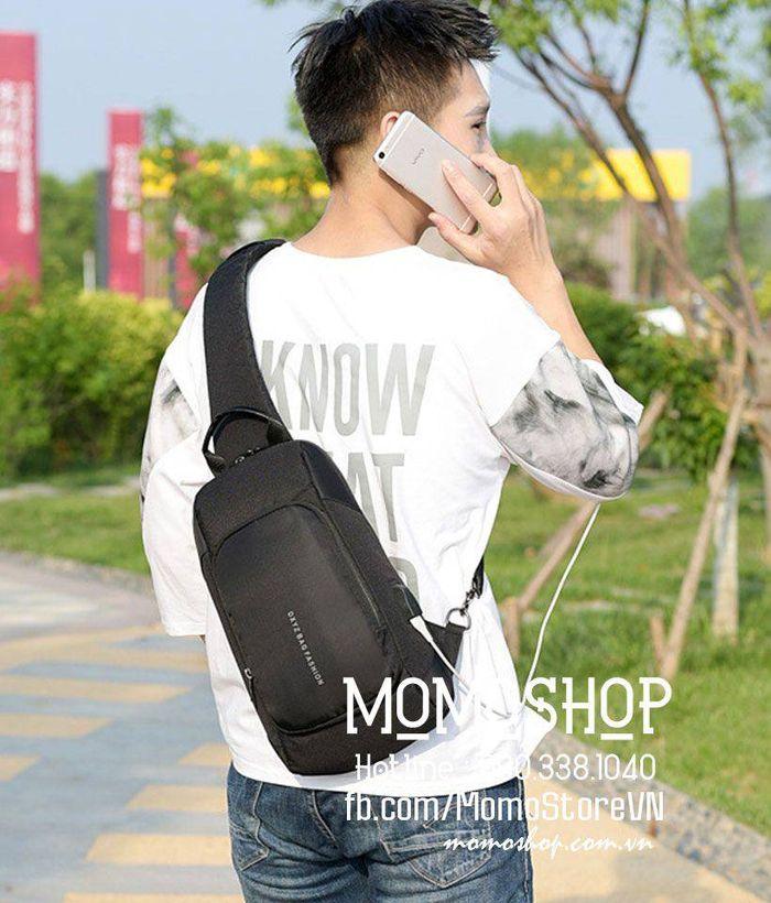 Túi đeo chéo nam giá rẻ bn323den