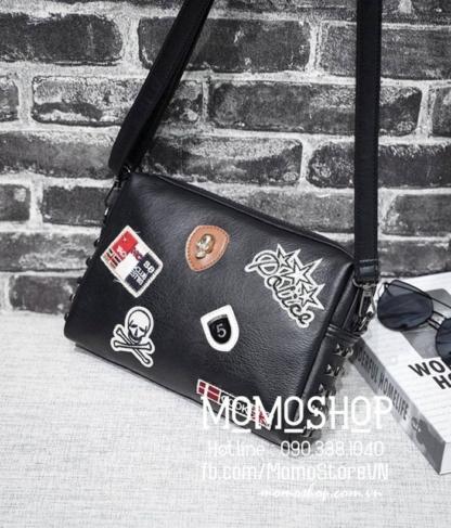 Túi đeo chéo da thời trang bn688 đen