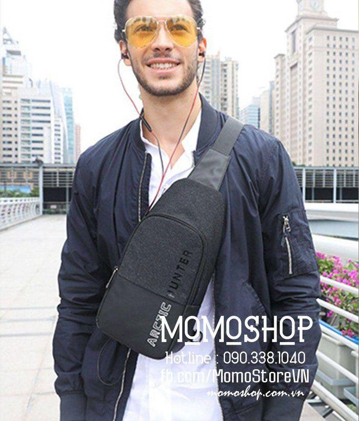Túi đeo chéo nam giá tốt ArcticHunter bn403den