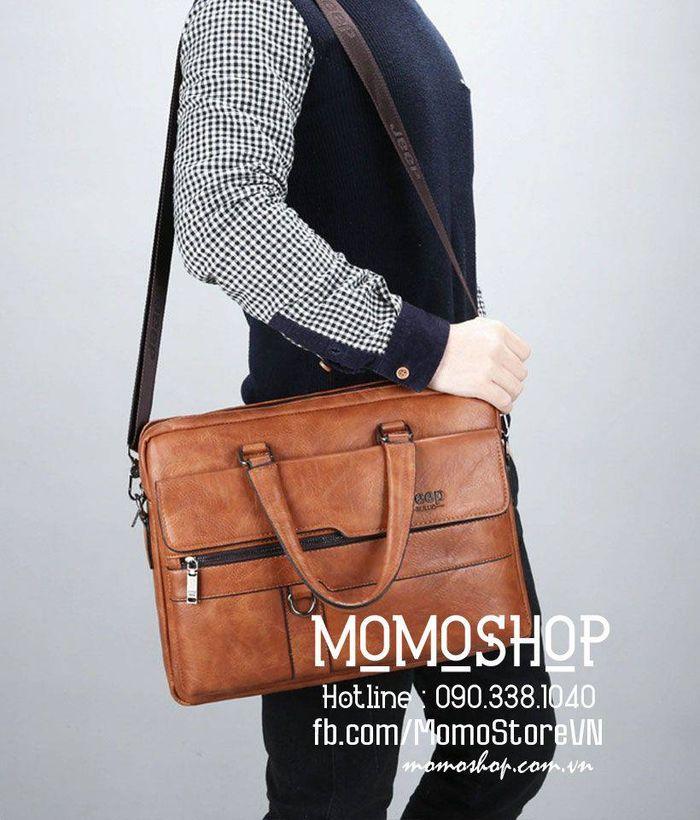 Túi xách laptop da nam thời trang bn419cam