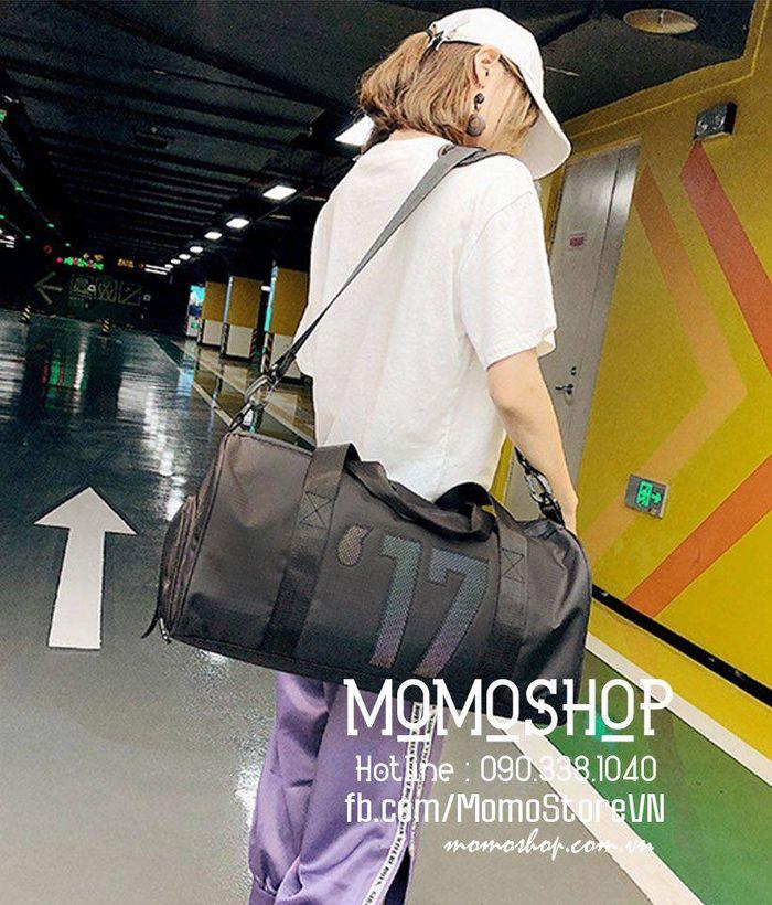 Túi du lịch nữ thời trang Hannf Quốc bn426den
