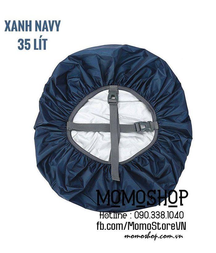 Áo trùm balo chống thấm nước bn435 xanhnavy 35l