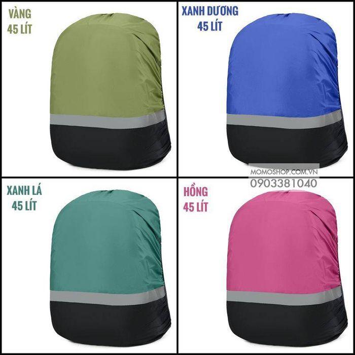 Tổng hợp 4 màu áo trùm balo bn440 45 lít