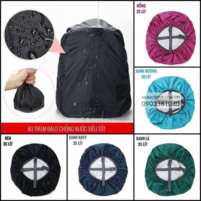 Tổng hợp 5 màu áo trùm balo bn435 35 lít