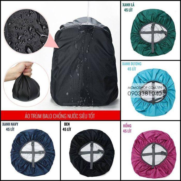 Tổng hợp 5 màu áo trùm balo bn436 45 lít