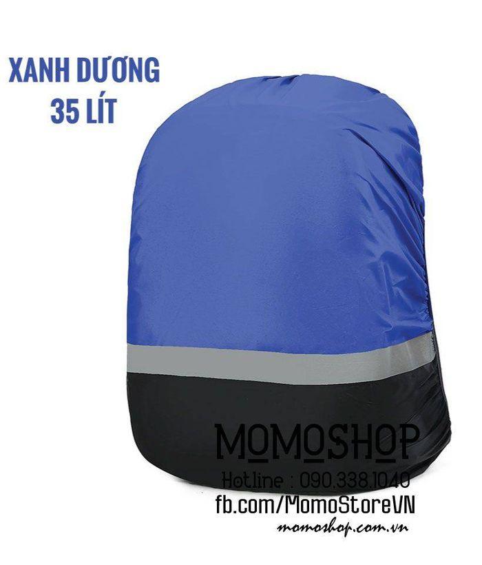 Túi trùm balo đi mưa bn439 xanhduong 35l