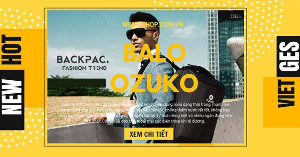 "Video thực tế "" Balo du lịch nam cao cấp Ozuko Vietges """