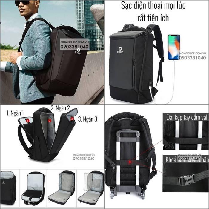 Balo Laptop Nam Cao Cấp Ozuko Vietges BL514