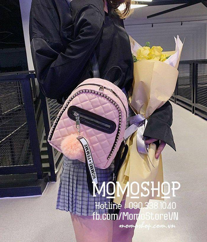 Balo mini nữ Hàn Quốc giá tốt mini161 hong