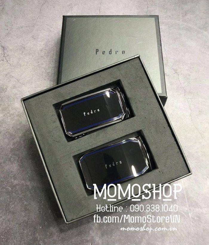 Bộ sản phẩm thắt lưng 2 khóa 1 dây Pedor thời trang dn288 den