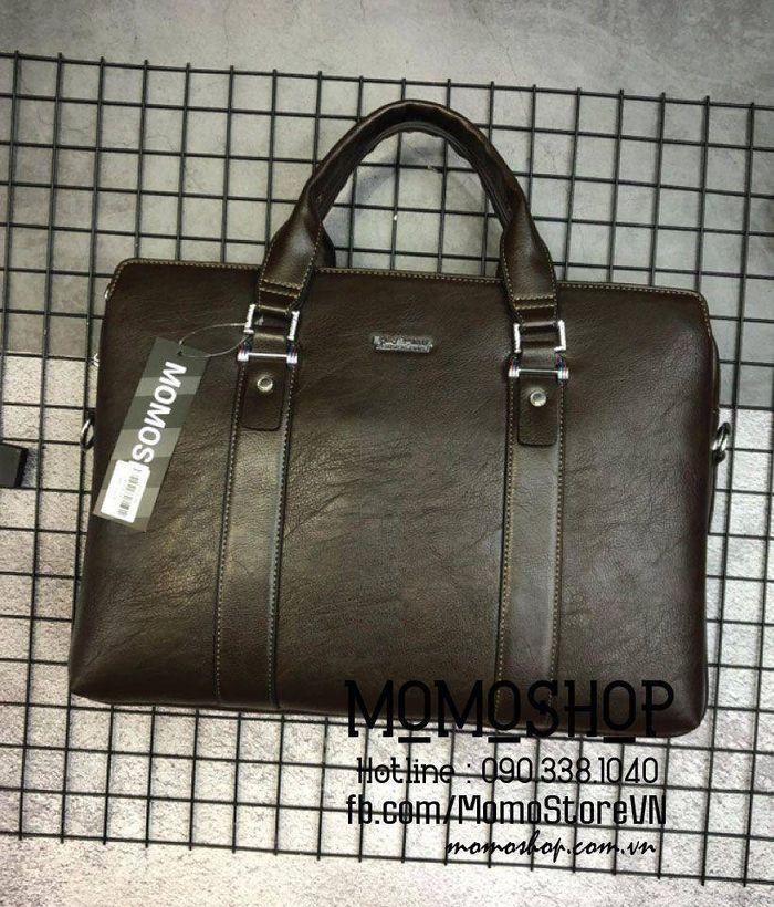 Avatar túi xách laptop 15 inch da thời trang cao cấp bn516 nâu