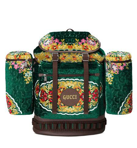 Balo Green Oversized Tapestry Backpack