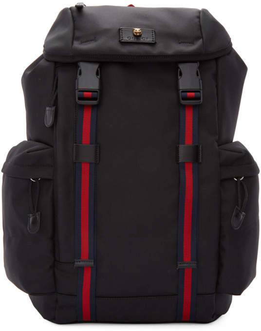Balo Gucci Black Medium Technical Backpack