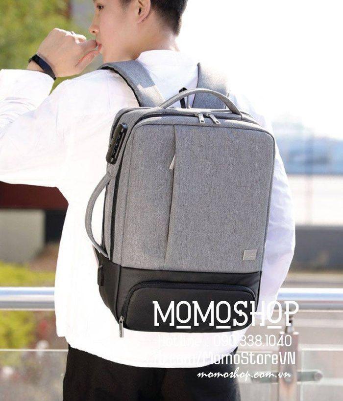 Balo laptop 15 inch thời trang Hàn Quốc bl541 ghi
