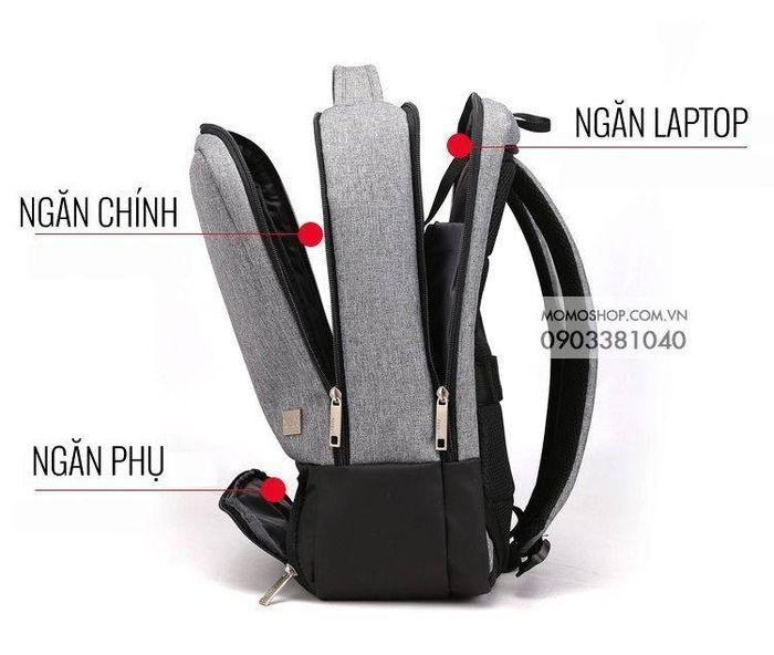 balo laptop 13 inch nữ thời trang đẹp bl541 đen