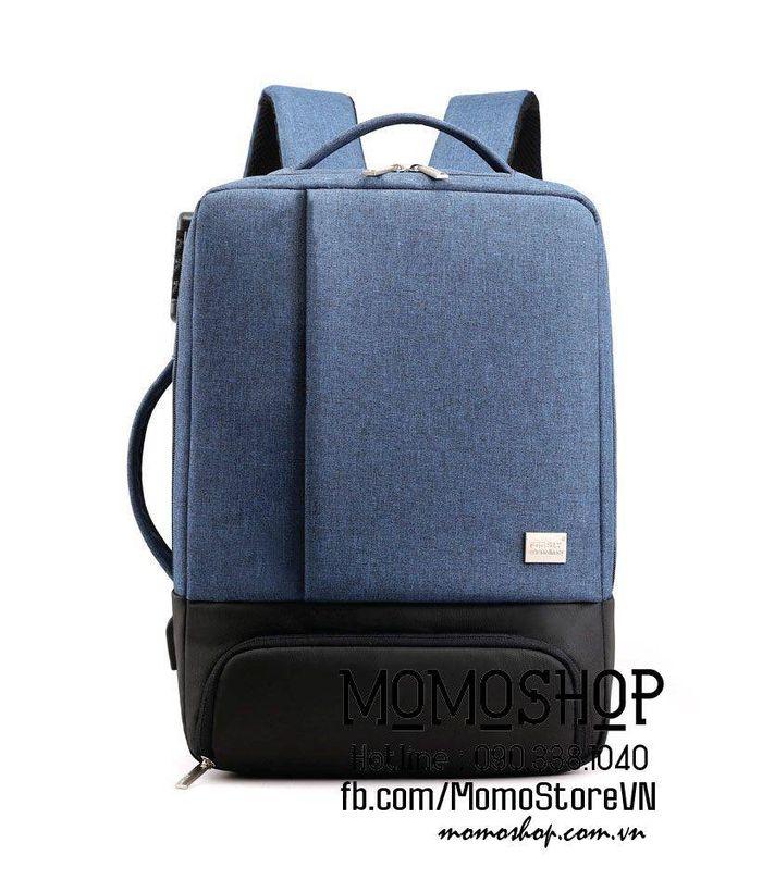 Balo laptop 2 trong 1 thời trang 'bl541 xanhduong