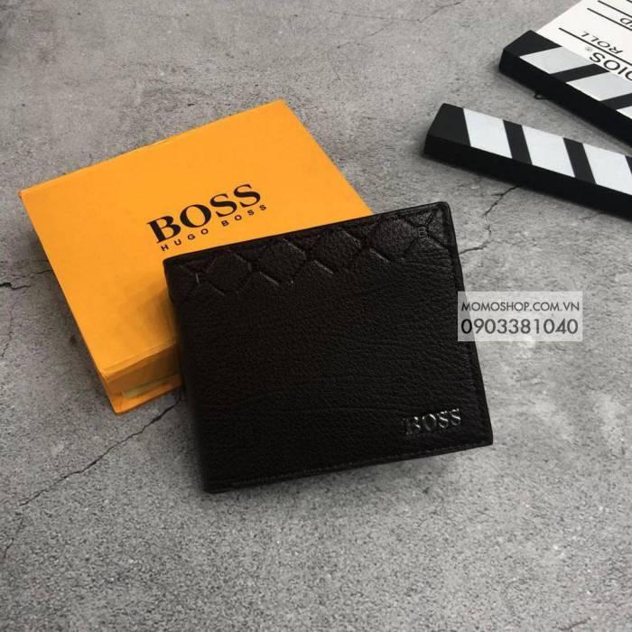 Ví nam đứng Boss thời trang bn537 nâu clutch nam tphcm