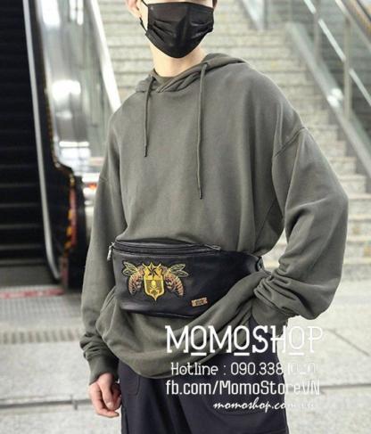 Túi bao tử da giá nhất Hà Nội bn577 đen