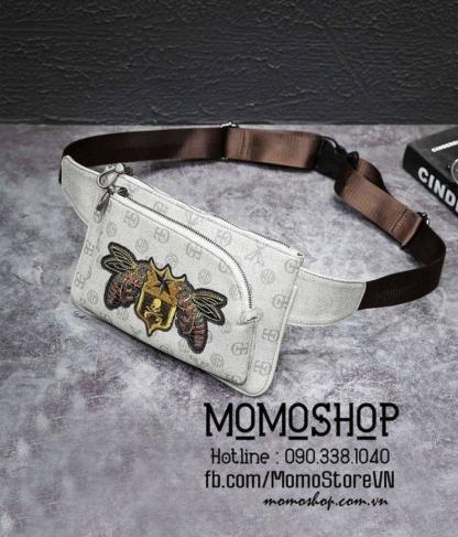 Túi đeo chéo con ong Gucci Hàn Quốc bn574 ghi