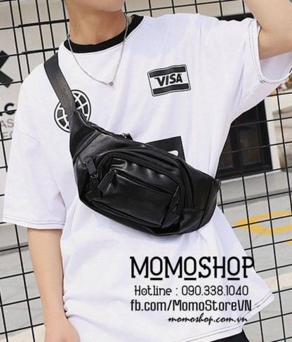 Túi đeo chéo da Hàn Quốc bn591 đen