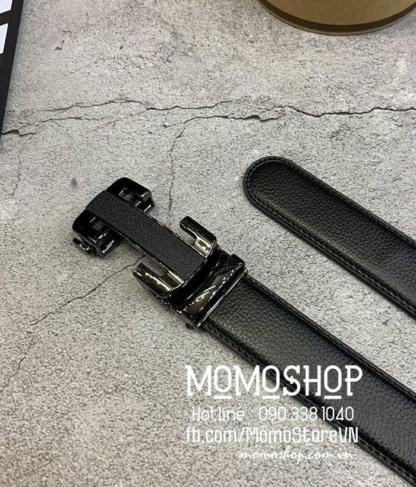 Thắt lưng nam thời trang chữ H dn312 đen