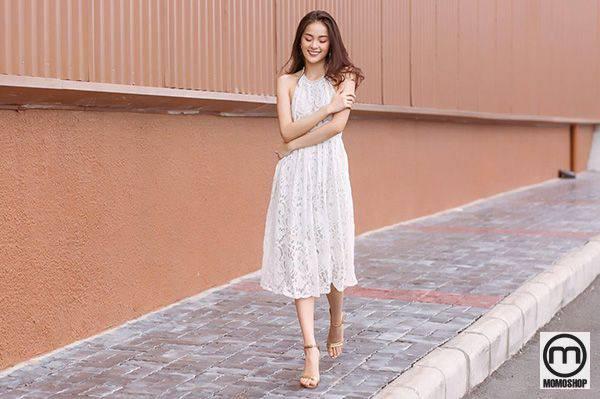 Váy cổ yếm xinh xắn dễ thương