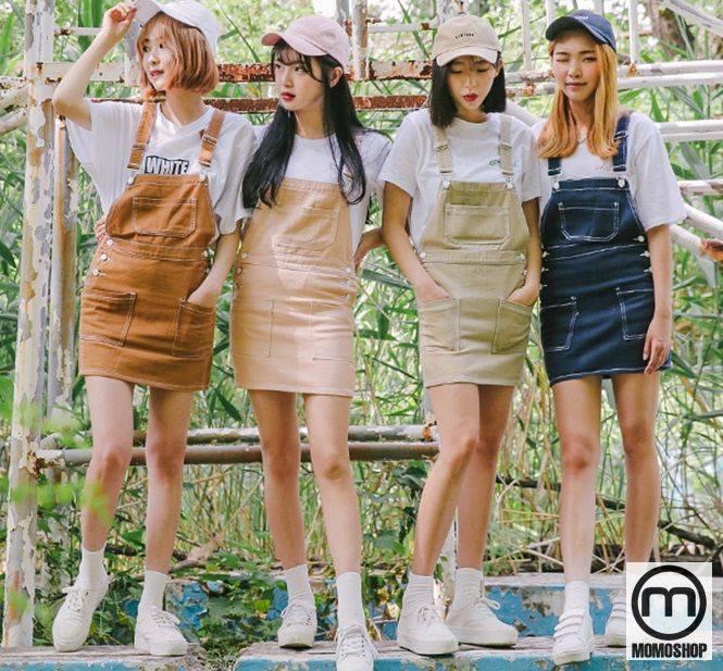 Váy yếm kaki ngắn đẹp