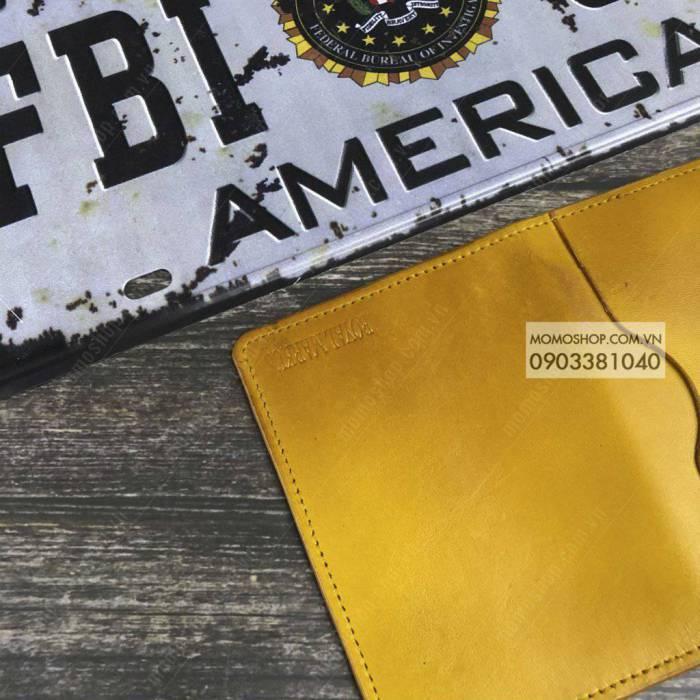 Ví nam mini da thật cao cấp bn651 vàng ví nam cầm tay