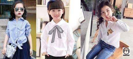 Phong cách mặc quần áo với áo sơ mi cho bé vừa đơn giản vừa dễ mặc nhưng không khó chọn.