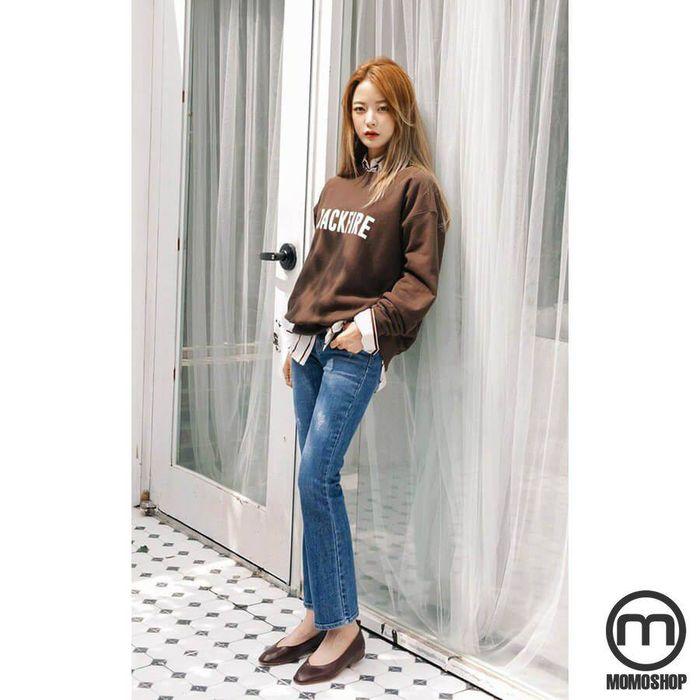 Kết hợp giày búp bê với quần jeans Skinny