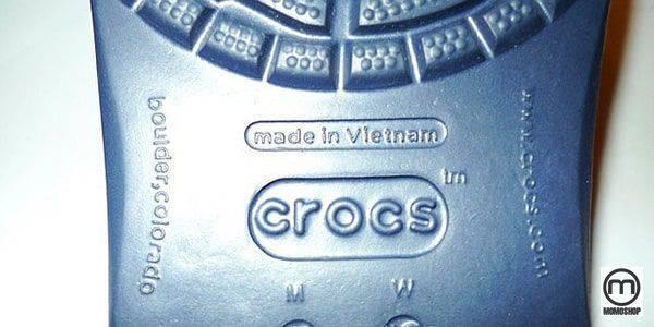 Giày Crocs được làm ở đâu?