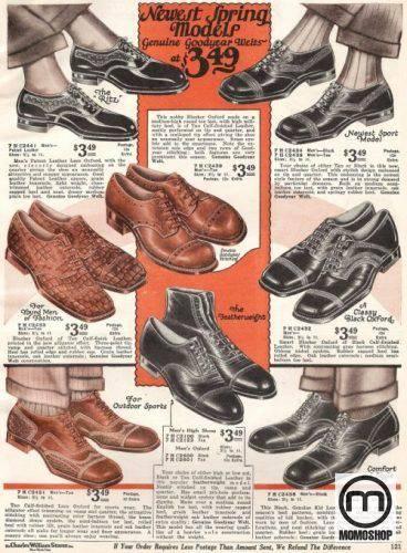 Các mẫu giày Oxford nổi tiếng vào những năm 1927