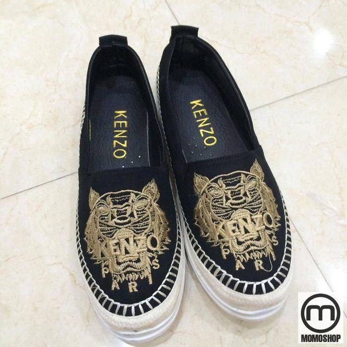 Giày Slip on Kenzo - Giày lười với họa tiết thêu nổi đặc sắc