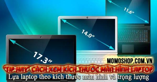 Cách kiểm tra kích thước màn hình Laptop và công nghệ màn hình
