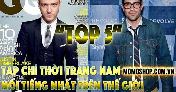 """""""Bỏ túi"""" Top 5 Tạp Chí Thời Trang Nam nổi tiếng nhất trên thế giới"""